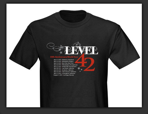 level 42 30th anniversary t shirt design